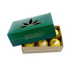 CANNAcore zestaw luksusowych kul do kąpieli z konopnym olejkiem eterycznym 6szt