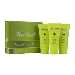 WELLNESS PREMIUM PRODUCTS mini zestaw (szampon 50ml, odżywka 50ml, maska 50ml)